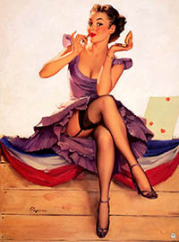 Pin up mooie vrouw